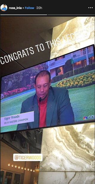Tiger Woods on TV