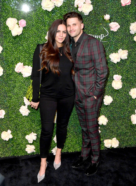 Tom Schwartz and Katie Maloney-Schwartz at Vanderpump Coctail Garden