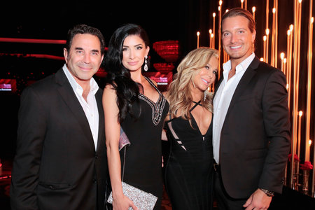 Adrienne Maloof and Date Jacob Busch with Dr. Paul Nassif and Brittany Pattakos