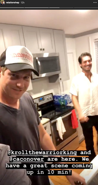 Austen Kroll and Craig Conover at Shep Rose's House