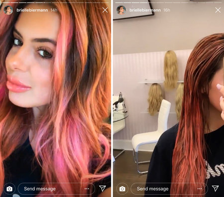 Brielle Biermann Dyed Her Hair Pink