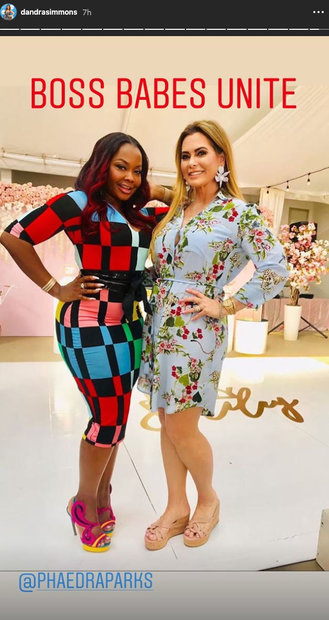 Phaedra Parks with D'Andra Simmons