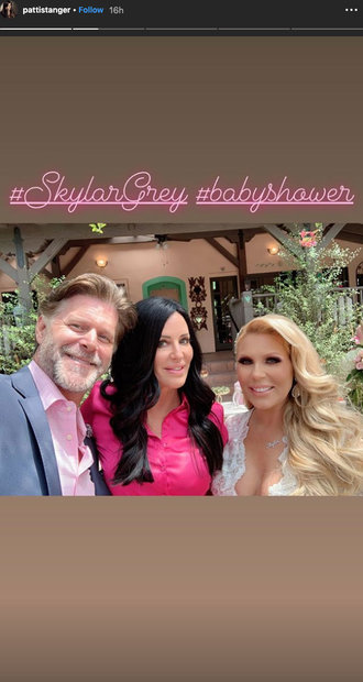 Patti Stanger at Gretchen Rossi and Slade Smiley's Baby Shower