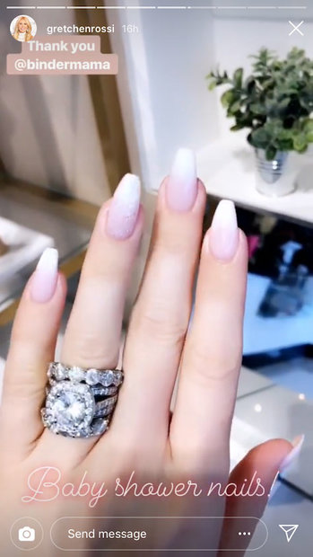 Gretchen Rossi S Huge Wedding Ring Baby Shower Nails Lookbook