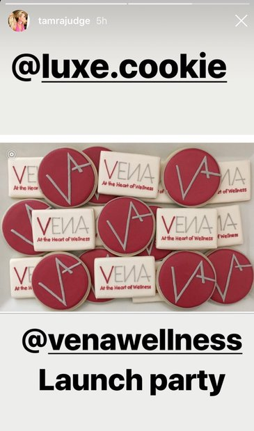 Tamra Judge VENA Wellness Launch Party: Luxe Cookie