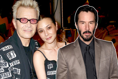 Keanu flirts with his ex China Chow in front of her boyfriend Billy Idol