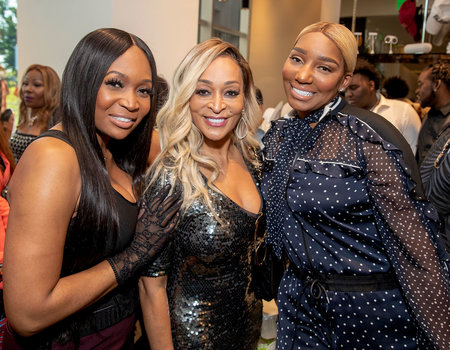 Marlo Hampton, Karen Huger, and Nene Leakes attend the newest Swagg Boutique opening.