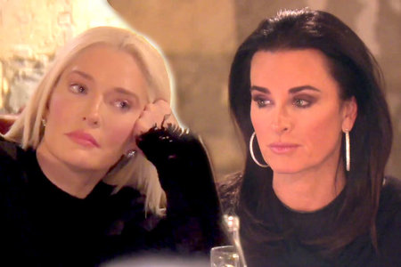 Erika Girardi and Kyle Richards on The Real Housewives of Beverly Hills Season 9