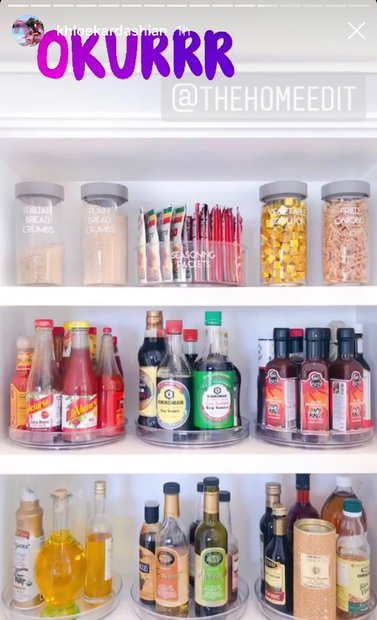 Khloe Kardashian Instagram: The Home Edit Pantry Pictures