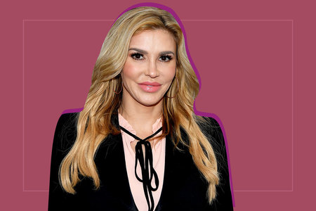 Brandi Glanville S Plunging Galanni Dress With Built In