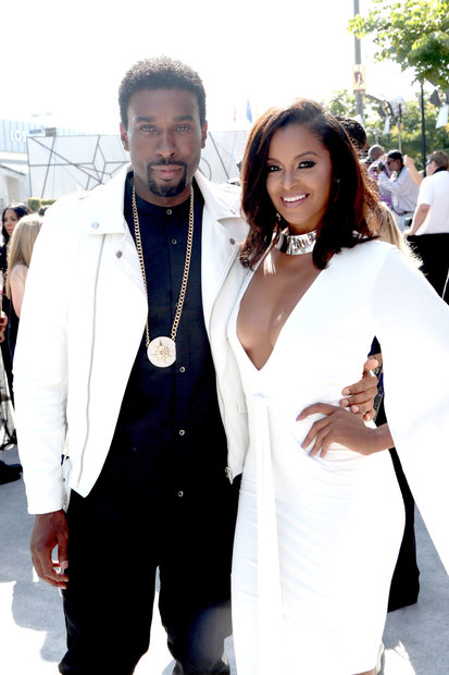 Claudia Jordan and Medina Islam at the 2016 BET Awards