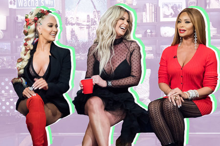 Erika Girardi, Kim Zolciak-Biermann, Gizelle Bryant on Watch What Happens Live with Andy Cohen