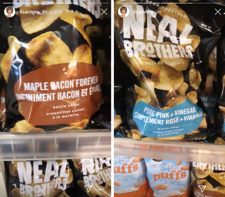 lisa rinna crazy potato chip flavors