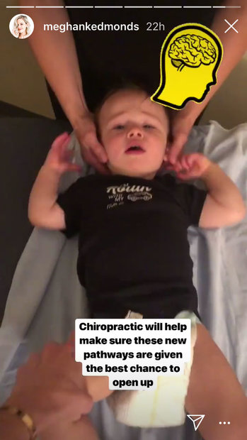 Meghan King Edmonds' Son Hart at the Chiropractor