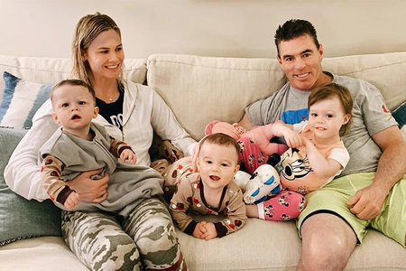 Meghan King Edmonds with husband Jim Edmonds, Daughter Aspen, Twin Sons Hayes and Hart