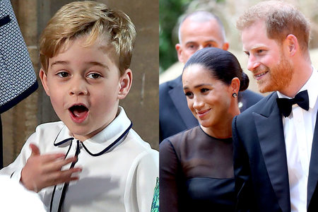 Prince George, Prince Harry, Meghan Markle