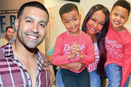 Apollo Nida, Phaedra Parks with Sons Dylan Nida and Ayden Nida