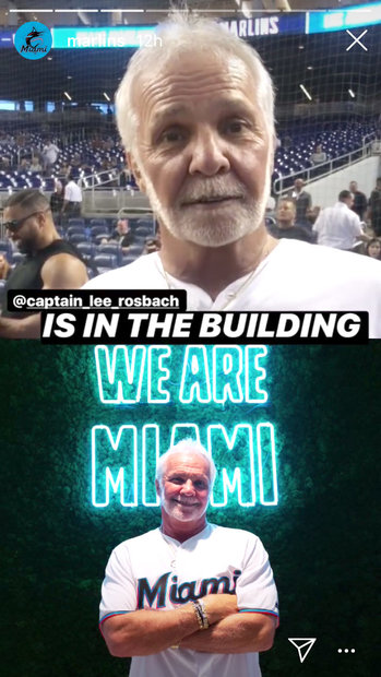 Captain Lee Rosbach at the Miami Marlins Game