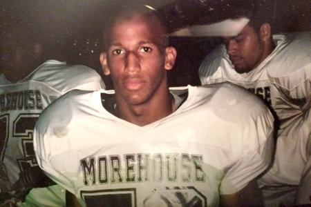 Justin Reese Playing Football for Morehouse College