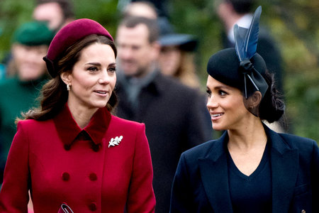 Kate Middleton and Prince William Accompany Queen to Church