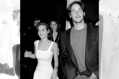 Winona Ryder & Keanu Reeves on March 25, 1989