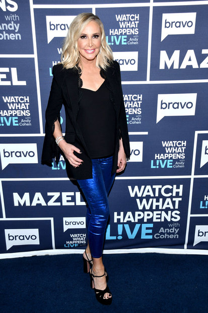 Shannon Beador blue leggings