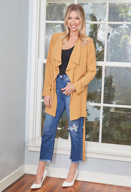 Stassi JustFab Trench