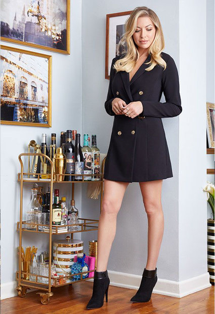 Stassi JustFab Belted Blazer Dress