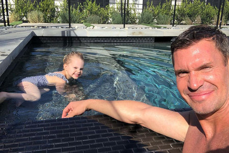 Jeff Lewis with Daughter Monroe