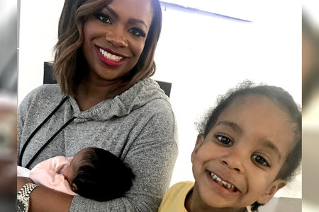 When Kandi Burruss Met Kenya Moore's Baby She Wouldn't Let Her Go, and We Don't Blame Her One Bit