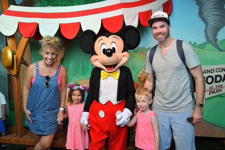 Alesandra Dubin and family at Disneyland