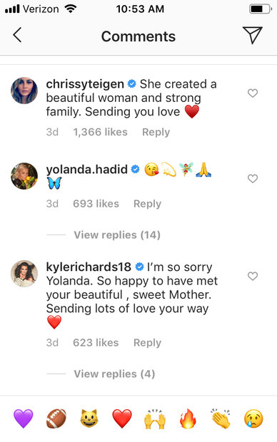Yolanda Hadid's Mother Ans van den Herik Dies | The Daily Dish
