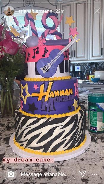 Awe Inspiring See Ariana Biermanns 18Th Birthday Cake Hannah Montana Style Personalised Birthday Cards Akebfashionlily Jamesorg