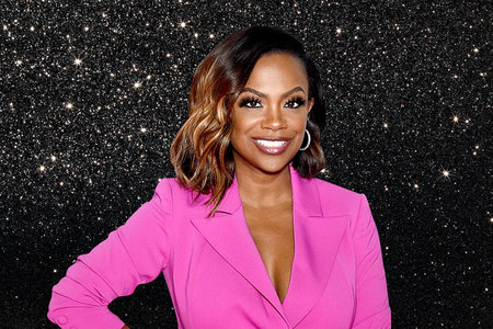 Kandi Burruss Black Glitter Bathroom