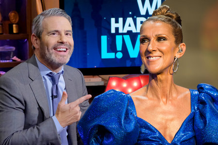 Andy Cohen Celine Dione Wwhl