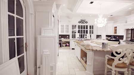 Melissa Gorga White Kitchen 1