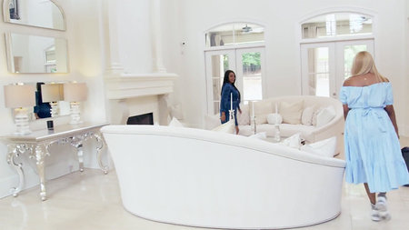 Nene Leakes White Living Room 1