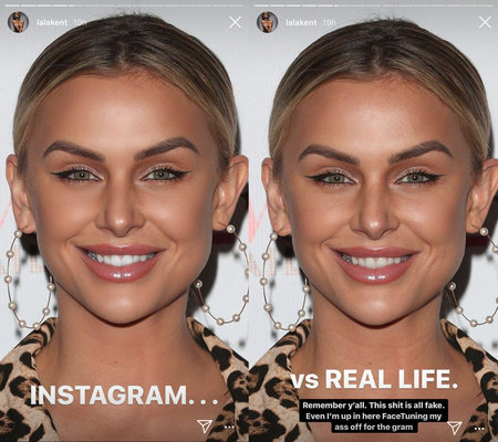 Lala Kent Shares Before After Facetune Photos On Instagram