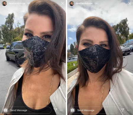 Heather Dubrow Face Mask 1
