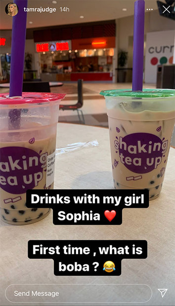 Tamra Judge Sophia Boba Tea 1
