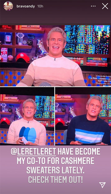Andy Cohen Sweater 1