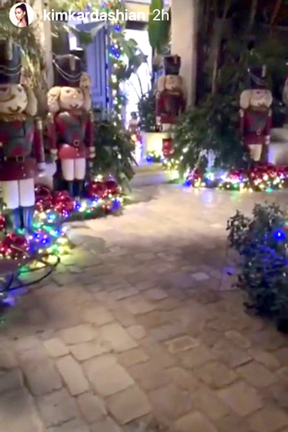 Kris Jenner Puts Up Rainbow Christmas Trees The Daily Dish
