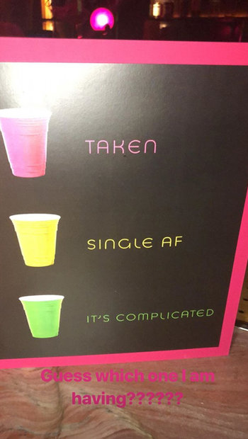 single taken its complicated party cups)