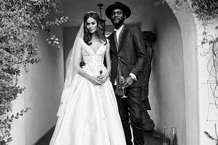 b53d1a417753 Australian supermodel Nicole Trunfio had a glamorous wedding for friends  and family on April 19, complete with model bridesmaids and a five-tier  wedding ...