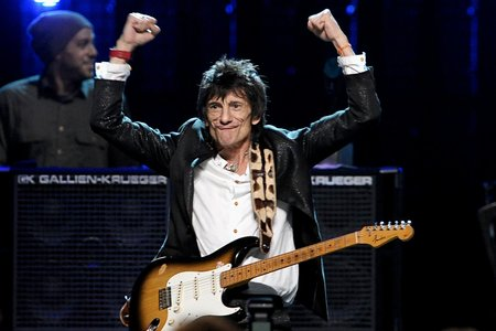 Rolling Stones' Ronnie Wood and Wife Sally Welcome Twins