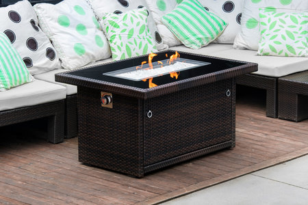 5 Best Gas Fire Pits: Review   Home & Design Mobile Home Setting A Pit Html on