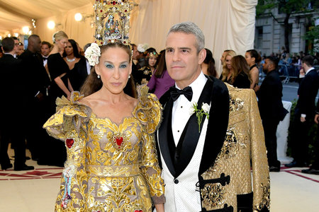 42ea9efbad Andy Cohen s Glittering Met Gala Coat Cape Was Everything