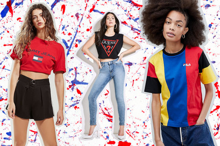 90s-Inspired Logo T-Shirts: Calvin Klein, Juicy, Fila, Gucci