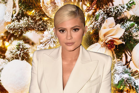 Kylie Jenner Gold Christmas Tree Jeff Leatham Photos Home Design
