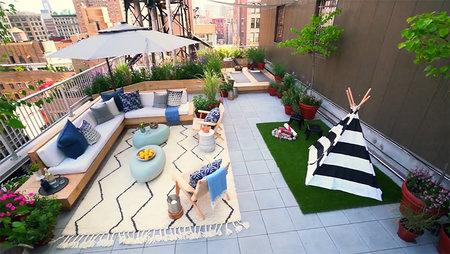 Backyard Envy Team Creates An Outdoor Yoga Deck Living Room Style Living